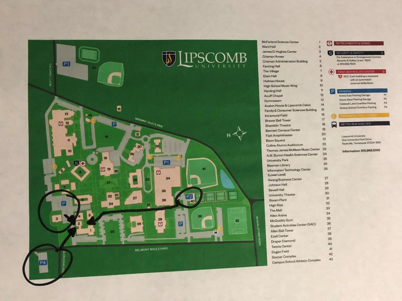 lipscomb university campus map Lipscomb University Campus Map Campus Map lipscomb university campus map